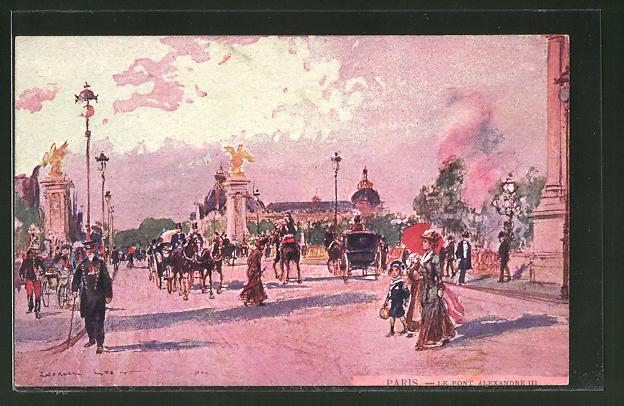 Künstler-AK Georges Stein: Paris, Le Pont Alexandre III