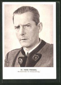 AK Dr. Hans Frenzel, Bundesminister für Volksernährung