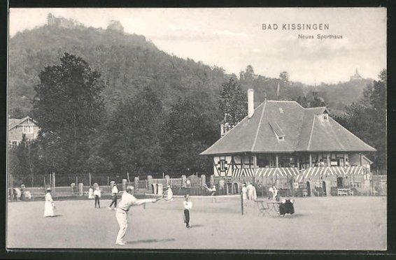 AK Bad Kissingen, Neues Sporthaus, Tennisplätze