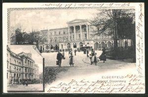 AK Elberfeld-Döppersberg, Bahnhof und Gymnasium