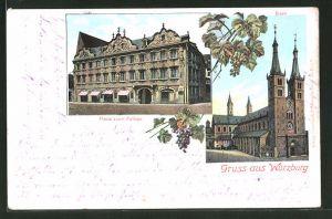 AK Würzburg, Haus zum Falken und Dom