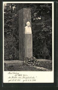 AK Bad Driburg, Statue Fr. Wilh. Weber, der Dichter von