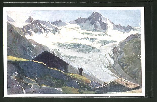 Künstler-AK Edo v. Handel-Mazzetti: Blick über das Zillertal