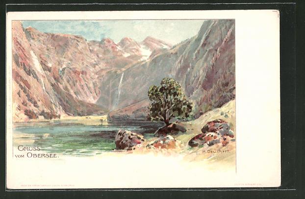 Künstler-AK Heinrich Deuchert: Blick auf den Obersee