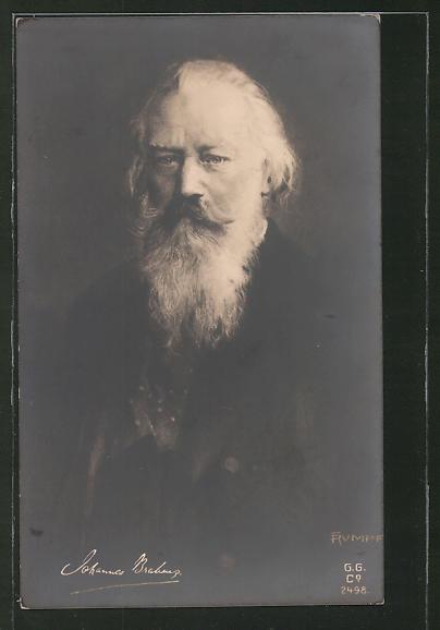 Künstler-AK Fritz Rumpf: Porträt Komponist Johannes Brahms