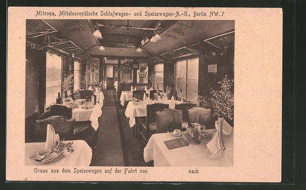 AK Eisenbahn, Mitropa, Schlafwagen- und Speisewagen