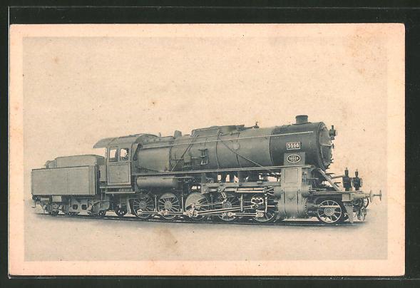 AK A. Borsig, Berlin-Tegel, 1 E-Heissdampf-Güterzuglok..., 5566