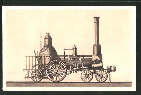 AK A. Borsig, Berlin-Tegel, 2A 1-Lokomotive, Berlin-Anhaltinische Eisenbahn, 1841