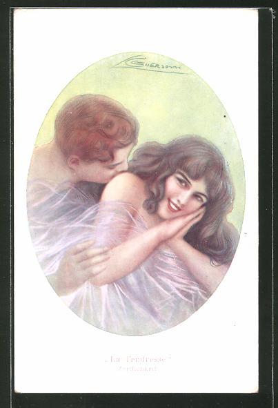 Künstler-AK G. Guerzoni: Zärtlichkeit, junges Paar