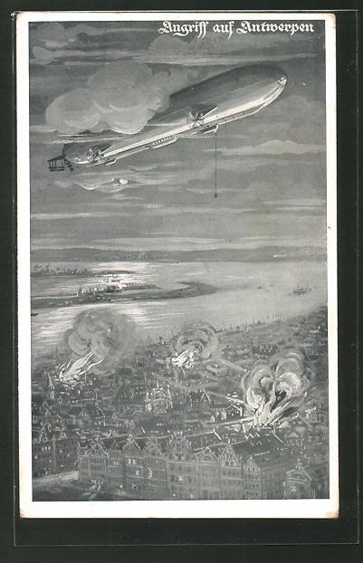AK Deutscher Luftflotten-Verein, Angriff auf Antwerpen, Zeppelin