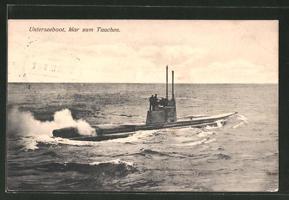 AK Unterseeboot, klar zum Tauchen