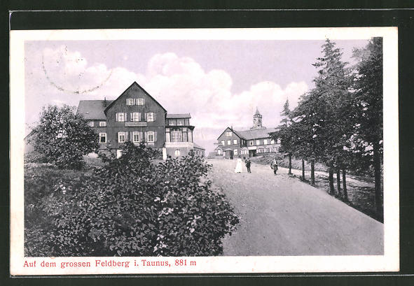 AK Feldberg, Unterkunftshaus auf dem grossen Feldberg