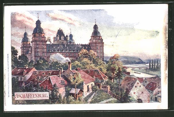 Künstler Aschaffenburg künstler ak aschaffenburg schloss ansicht nr 7732753 oldthing