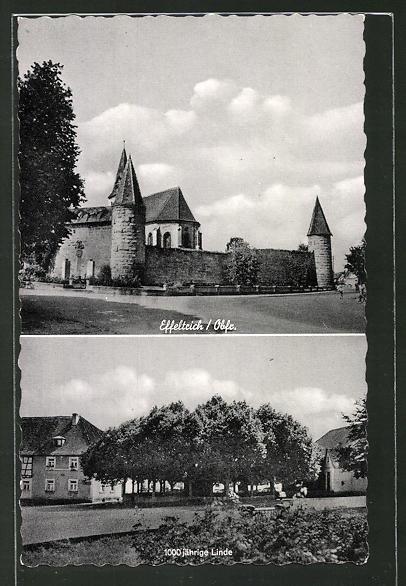 AK Effeltrich, Kirche und 1000jährige Linde