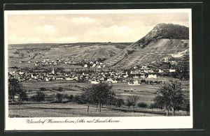 AK Heimersheim, Ortsansicht mit Landskrone