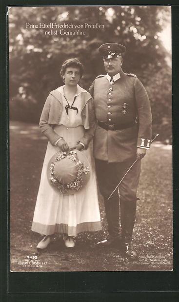 AK Prinz Eitel Friedrich von Preussen nebst Gemahlin