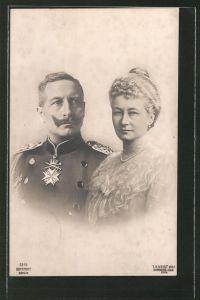 AK Kaiser Wilhelm II. und Kaiserin