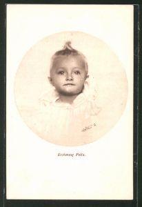AK Portraitaufnahme Erherzog Felix von Österreich als Kleinkind