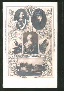 AK Nürnberg, German. Museum, Goldene Jubelfeier 1902, Prinzregent Luitpold, Ganzsache Bayern PP15 /C43 /01