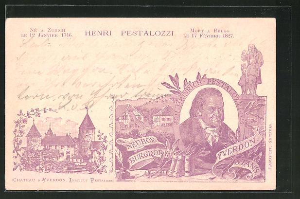 AK Yverdon, Henri Pestalozzi, Chateau d'Yverdon