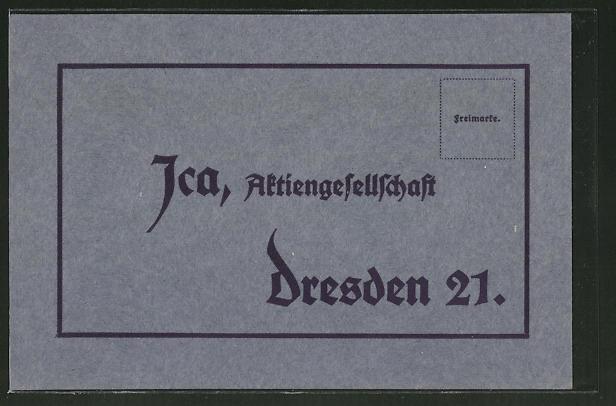 AK Ica, Aktiengesellschaft, Dresden, Bestellung der Bröschüre - Künstler-Arbeit mit Ica-Spiegelreflex-Camera