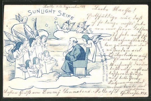 AK Sunlight Seife, Petrus und Engel