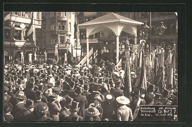 AK Kiel, Enthüllung des eisernen Wehrmals U-Boot 1915, Nagelung