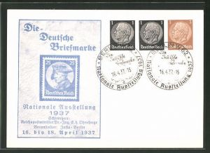 AK Ganzsache 3+1+1 Pfennige: Berlin, Nationale Ausstellung