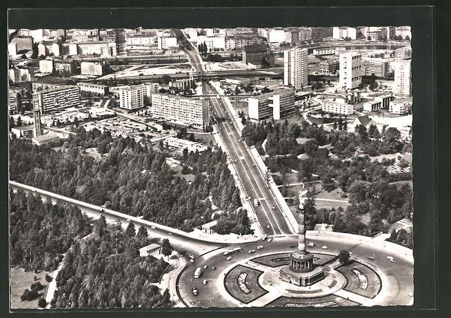 AK Berlin, Blick auf das neue Hansaviertel aus der Vogelschau