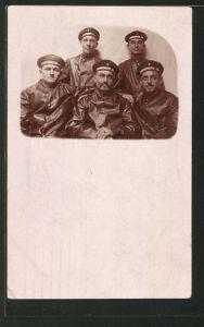 Foto-AK Matrosen in Uniform, U-Boot-Fahrer 0