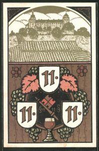 AK Würzburg, Blick zum Schloss, besonderes Datum 11.11.11