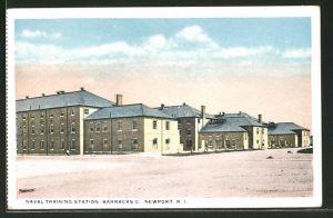 AK Newport, RI, Naval Training Station, Baracks C.