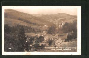 AK St. Kathrein am Hauenstein, Ortspanorama vom Berg aus gesehen