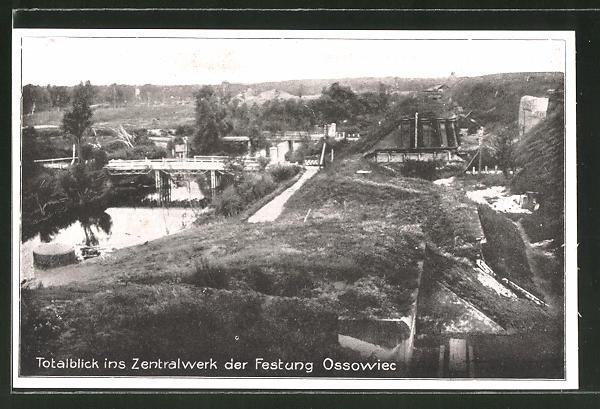 AK Ossowiec, Sicht ins Zentralwerk der Festung