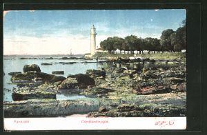 AK Constantinople, Fanaraki, Partie mit Leuchtturm