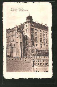 AK Krakau-Krakow, Wawel, Königsschloss