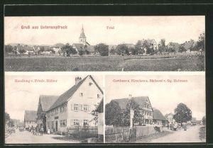AK Unterampfrach, Handlung F. Häfner, Gasthaus zum Hirschen & Bäckerei v. G. Hofmann