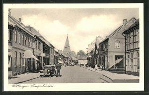 AK Wittingen, Langestrasse mit Auto und Geschäften