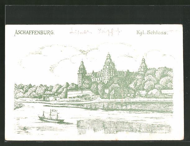 Künstler Aschaffenburg künstler ak aschaffenburg blick auf das königl schloss nr 7744990