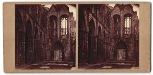 Fotografie Stereo-Fotografie unbekannter Fotograf, Ansicht, Abbey of Holyrood