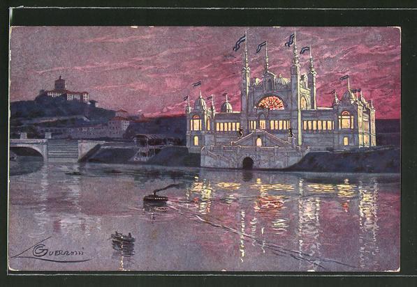 Künstler-AK G. Guerzoni: Torino, Esposizione Internazionale 1911, Padiglione dell'Argentina