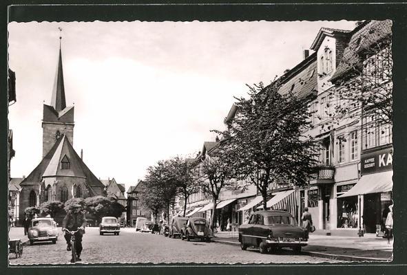 AK Duderstadt, Marktstrasse und St. Servatiuskirche