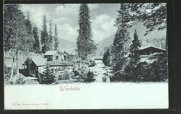 AK Schliersee, Gasthaus Wurzhütte