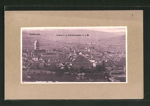 AK Heidingsfeld, Panorama mit Institut d. a. Schulschwestern d. A. N.