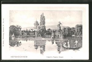 AK Veitshöchheim, Pegasusgruppe im Hofgarten