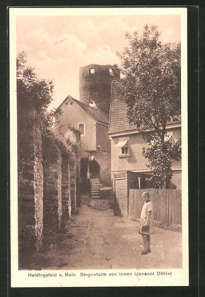 AK Heidingsfeld a. Main, Stegenturm von Innen (genannt Döhlen)
