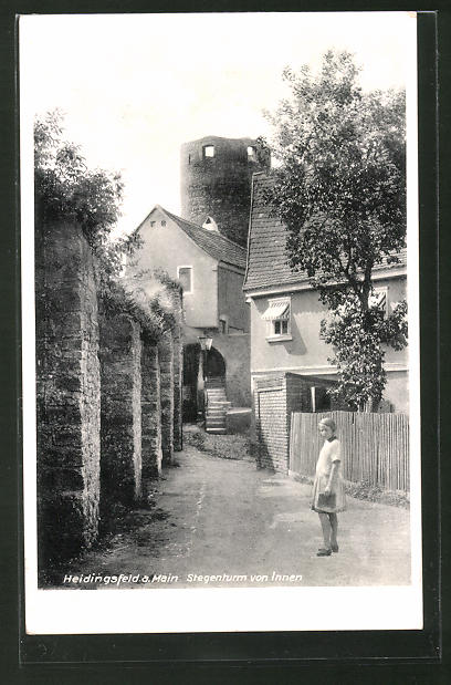 AK Heidingsfeld a. Main, Stegenturm von Innen