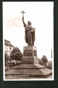 AK Fulda, Partie am Bonifacius-Denkmal