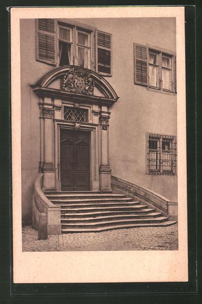 AK Würzburg, Portal am bischöfl. Palais