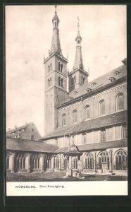 AK Würzburg, Partie am Dom-Kreuzgang